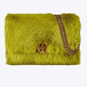 Tory Burch Chelsea faux fur shoulder bag